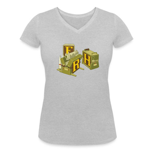 F-H-R-Container - Women's V-Neck T-Shirt