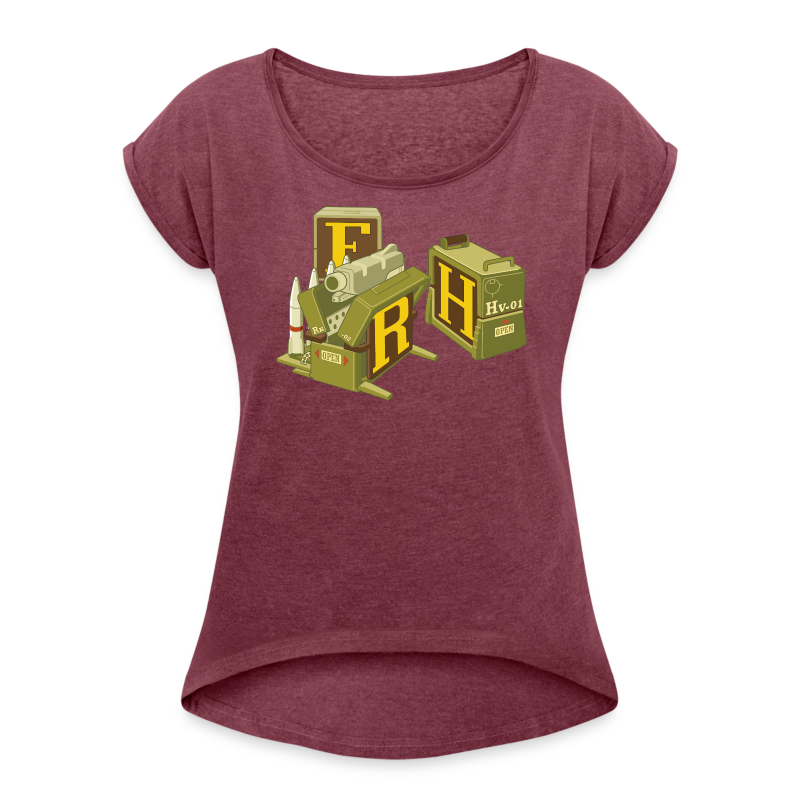 F-H-R-Container - Women's T-shirt with rolled up sleeves