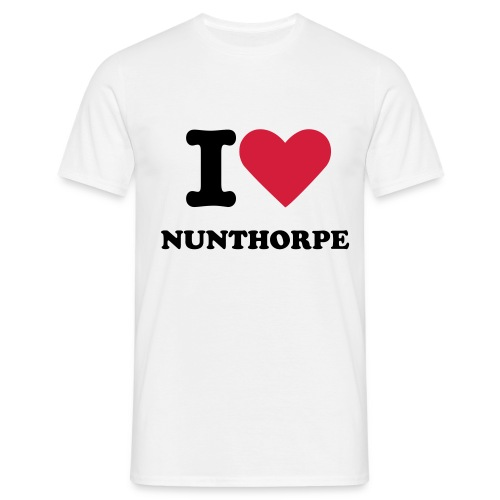 I Love Nunthorpe T-Shirt - Men's T-Shirt