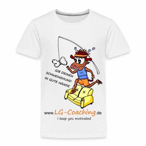 Kinder-Baumwoll-Shirt Schweinehund_Bild_vorn_LG-Logo_hinten - Kinder Premium T-Shirt