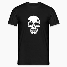 Black skull pirate death heavy metal Men's T-Shirts