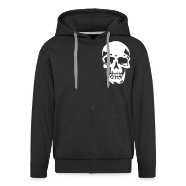 Black skull pirate death heavy metal Coats & Jackets