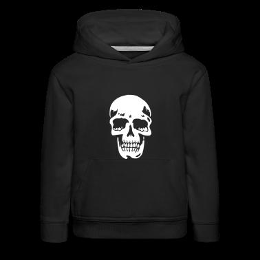Blu scuro skull pirate death heavy metal Pullover bambini