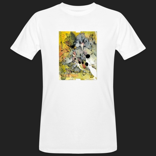 Overpainted Berlin Metro  - Männer Bio-T-Shirt