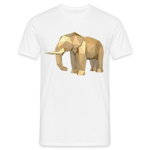 T-Shirt golden Elephant - Männer T-Shirt