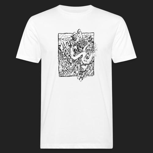 Fratzen No. 4 - Männer Bio-T-Shirt