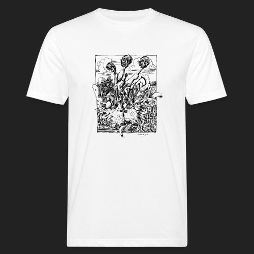 Fratzen No. 5 - Männer Bio-T-Shirt