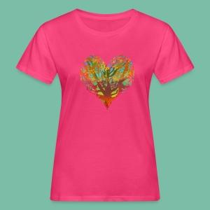 Tshirt femme bio coeur végétal - T-shirt bio Femme