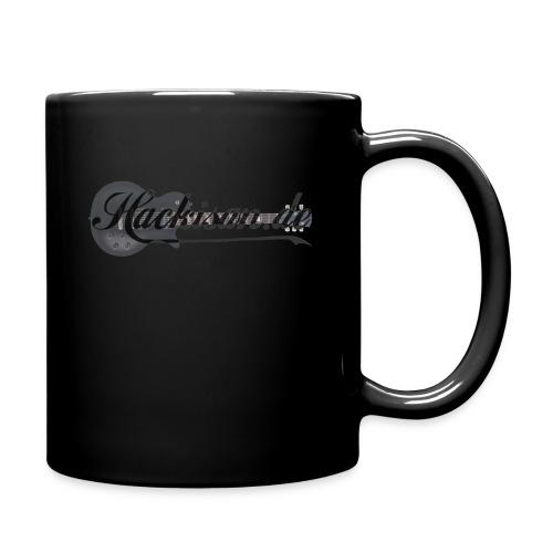 Tasse - schwarz - Hackisan-Logo vorne u. hinten - Tasse einfarbig
