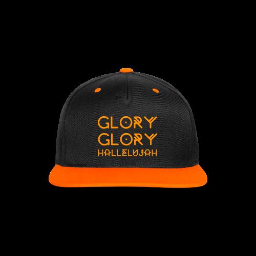 Glory Glory Hallelujah Snapback - Kontrast snapback cap
