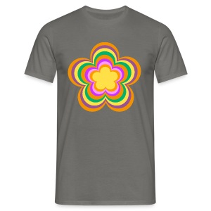 Flower Power Retro Style - Männer T-Shirt