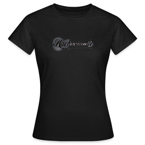 T-Shirt - Damen - Hackisan-Logo - sw - Frauen T-Shirt