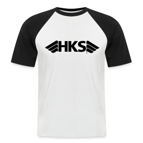 T-Shirt Gris Noir Logo Noir HKS - T-shirt baseball manches courtes Homme