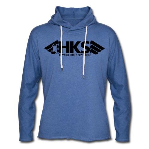 Sweat a Capuche Bleu Logo Noir HKS - Sweat-shirt à capuche léger unisexe