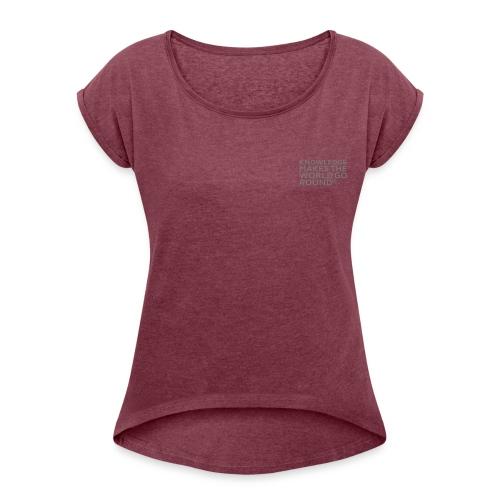 T-Shirt Frauen mit gerollten Ärmeln - Frauen T-Shirt mit gerollten Ärmeln