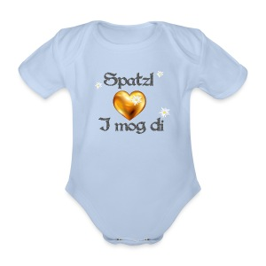 Spatzl I mog di - Baby Bio-Kurzarm-Body