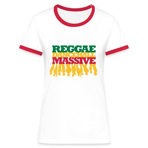 Reggae Dancehall Massive - Frauen Kontrast-T-Shirt