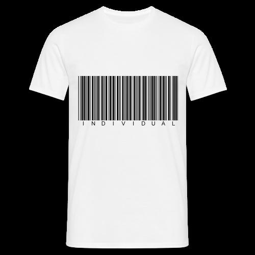 Individual Black on White - Men's T-Shirt