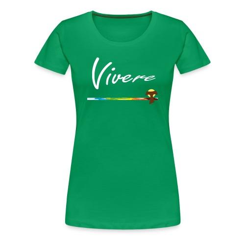 Vivere Logo Vorn Kelly Green Frauen - Frauen Premium T-Shirt