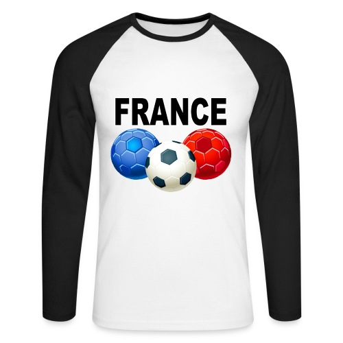 Football France - Men's Long Sleeve Baseball T-Shirt