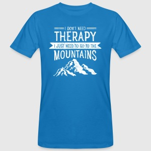 Therapy Mountains | Vintage Retro Style T-Shirts - Männer Bio-T-Shirt
