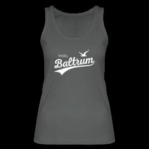 Top in Bio-Qualität mit Baltrum-Logo dunkelgrau - Frauen Bio Tank Top von Stanley & Stella