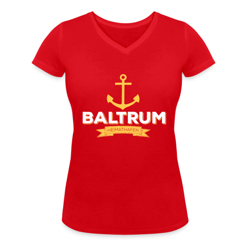 Bio-Shirt mit V-Ausschnitt Heimathafen rot - Frauen Bio-T-Shirt mit V-Ausschnitt von Stanley & Stella