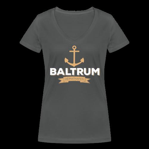 Bio-Shirt mit V-Ausschnitt Heimathafen anthrazit - Frauen Bio-T-Shirt mit V-Ausschnitt von Stanley & Stella