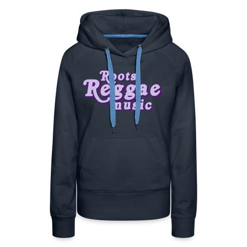 REGGAE MUSIC LAVANDE/LILA - Sweat-shirt à capuche Premium pour femmes