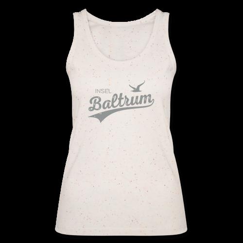 Top in Bio-Qualität mit Baltrum-Logo creme / grau - Frauen Bio Tank Top von Stanley & Stella