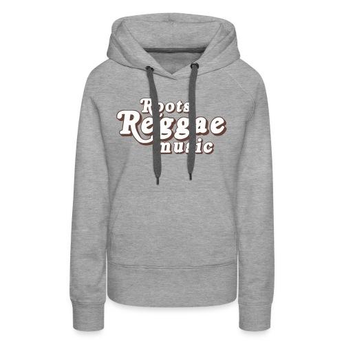 REGGAE MUSIC BLANC/MARRON - Sweat-shirt à capuche Premium pour femmes