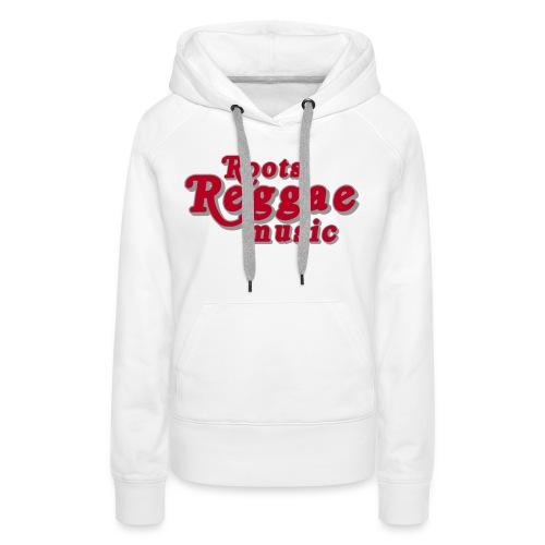 REGGAE MUSIC ROUGE /GRIS - Sweat-shirt à capuche Premium pour femmes