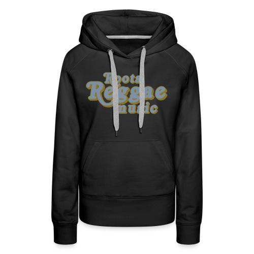 REGGAE MUSIC ARGENT/GOLD - Sweat-shirt à capuche Premium pour femmes