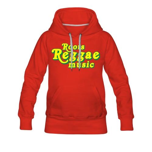 REGGAE MUSIC JAUNE/VERT - Sweat-shirt à capuche Premium pour femmes