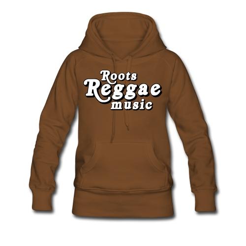 REGGAE MUSIC BLANC/NOIR - Sweat-shirt à capuche Premium pour femmes
