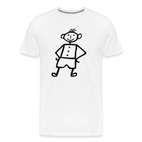 me white - Männer Premium T-Shirt
