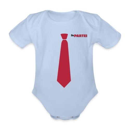 Body-Krawatte - Baby Bio-Kurzarm-Body