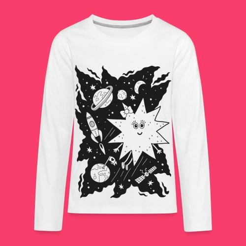 Stella Stern Kinder-Sweatshirt zum Ausmalen - Teenager Premium Langarmshirt