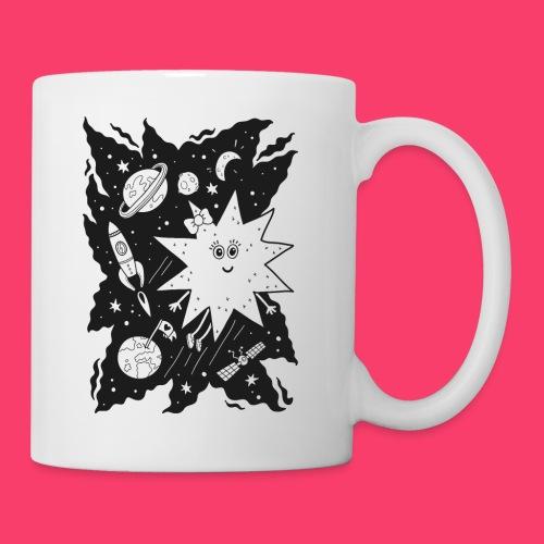 Stella Stern Tasse zum Ausmalen mit Weltraum, Planeten und Rakete - Tasse