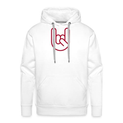 Rock hand - Mannen Premium hoodie