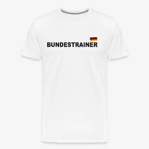 Bundestrainer Deutschland Sport T-Shirt Fußball Trikot - Männer Premium T-Shirt