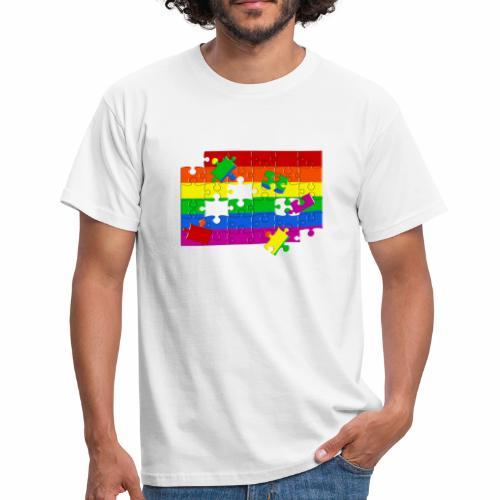 Camiseta Gay Puzzle - Camiseta hombre
