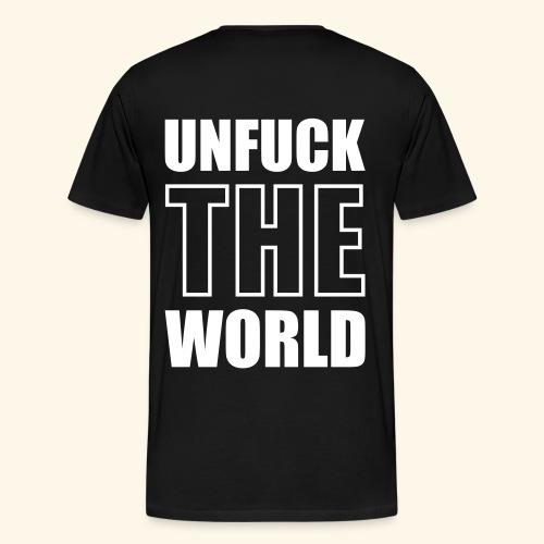 T-shirt BenalRida - backside BACK OFF! skull w/ hat - Camiseta premium hombre