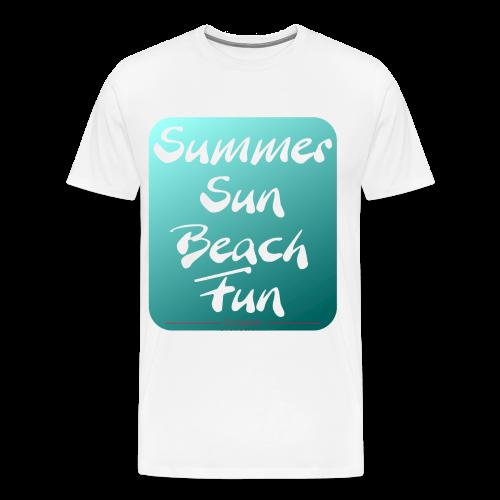 Summer Sun Beach Fun Petrol2 - Männer Premium T-Shirt