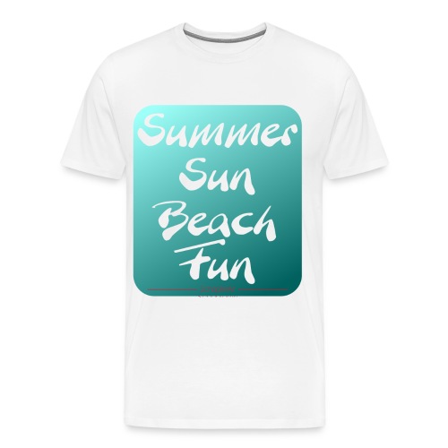 Summer Sun Beach Fun Petrol2 - Männer Premium T-Shirt