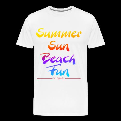 Summer Sun Beach Fun  - Männer Premium T-Shirt