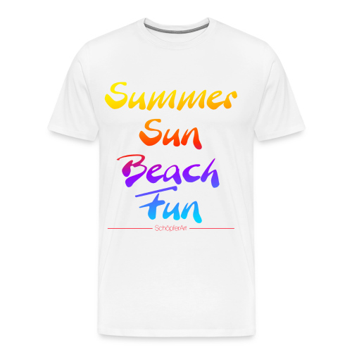 Summer Sun Beach Fun  - Männer Premium T-Shirt