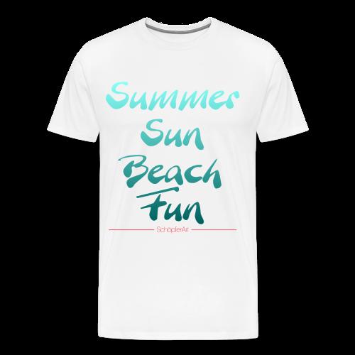 Summer Sun Beach Fun Petrol - Männer Premium T-Shirt