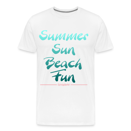 Summer Sun Beach Fun Petrol - Männer Premium T-Shirt