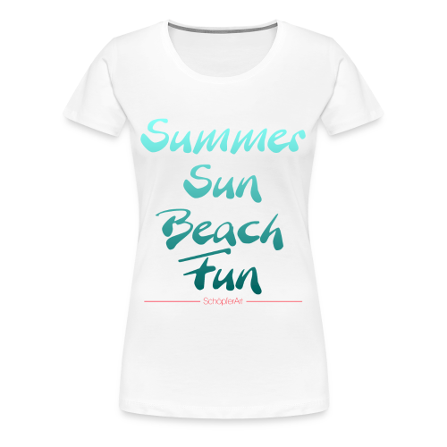 Summer Sun Beach Fun -Woman - Frauen Premium T-Shirt